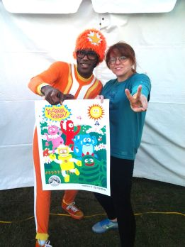 That's me, and the one and only DJ Lance Rock!